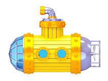 Viejo lado submarino amarillo Fotografía de archivo libre de regalías