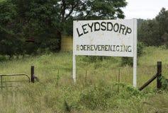 Viejo leydsdorp del pueblo de la mina de oro del abandono Foto de archivo libre de regalías