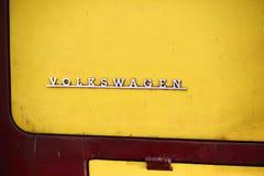 Viejo logotipo del campista de VW Fotos de archivo