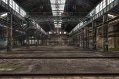 Viejo lugar perdido que aflige en la Alemania Oriental Foto de archivo