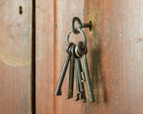 Viejo manojo de llaves Fotografía de archivo libre de regalías