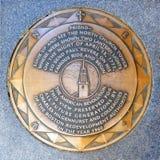 Viejo marcador del norte del camino de la iglesia, Boston, los E.E.U.U. Imágenes de archivo libres de regalías