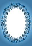 Viejo marco antiguo azul stock de ilustración