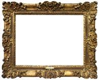 Viejo marco barroco del oro fotografía de archivo libre de regalías