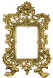 Viejo marco de cobre amarillo Foto de archivo libre de regalías