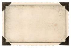 Viejo marco de la foto con el campo de la esquina y vacío para su imagen Foto de archivo libre de regalías