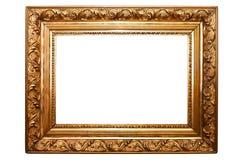 Viejo marco de la pintura, aislado en el blanco (No#2) Foto de archivo