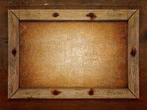 Viejo marco de madera fotografía de archivo