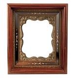 Viejo marco de madera con el adorno Fotografía de archivo libre de regalías