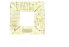 Viejo marco de madera con el ce blanco Imagenes de archivo