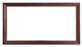 Viejo marco de madera marrón Foto de archivo libre de regalías