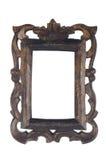 Viejo marco de madera oscuro Foto de archivo