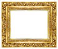 Viejo marco de oro Fotos de archivo libres de regalías