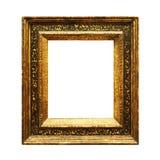Viejo marco de pintura descolorado aislado en blanco Fotos de archivo libres de regalías