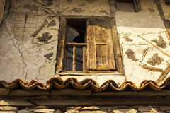 Viejo marco de ventana Fotos de archivo