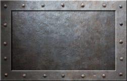 Viejo marco del metal Imagenes de archivo