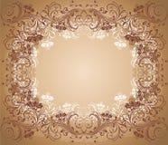 Viejo marco floral Imagenes de archivo