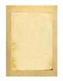 Viejo marco grabado en relieve de la cartulina aislado Fotografía de archivo libre de regalías