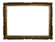 Viejo marco grande aislado Imágenes de archivo libres de regalías