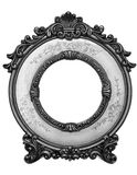 Viejo marco negro del oro Foto de archivo libre de regalías