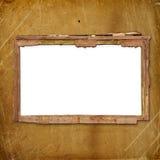 Viejo marco para la foto o invitaciones asociadas Fotos de archivo