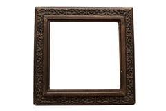 Viejo marco para las pinturas de madera dañado Fotos de archivo libres de regalías