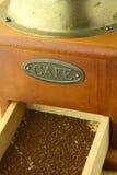 Viejo marrón de la amoladora de café en color Fotos de archivo