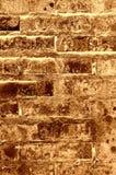 Viejo marrón de la textura de la pared de ladrillo Foto de archivo libre de regalías