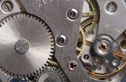 Viejo mecanismo de engranaje del reloj fotos de archivo