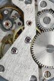 Viejo mecanismo de engranaje del reloj foto de archivo