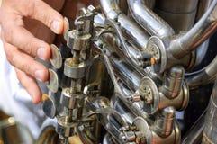 Viejo mecanismo de la tuba Fotos de archivo libres de regalías