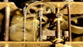 Viejo mecanismo de trabajo almacen de metraje de vídeo