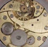 Viejo mecanismo del reloj Fotos de archivo libres de regalías