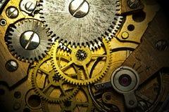 Viejo mecanismo del reloj Foto de archivo libre de regalías
