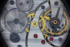Viejo mecanismo interior soviético del reloj de bolsillo Imágenes de archivo libres de regalías