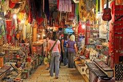 Viejo mercado de Jerusalén. Imagen de archivo libre de regalías