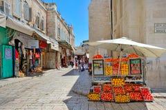 Viejo mercado de Jerusalén. Fotografía de archivo