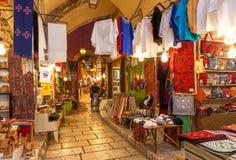 Viejo mercado de Jerusalén, Israel Imagen de archivo libre de regalías