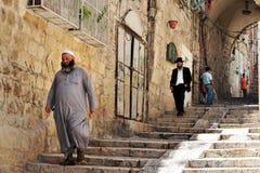 Viejo mercado de la ciudad de Jerusalén Fotografía de archivo
