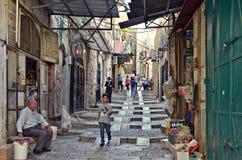 Viejo mercado de la ciudad de Jerusalén Fotografía de archivo libre de regalías