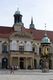 Viejo mercado Magdeburgo Fotografía de archivo