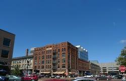 Viejo mercado, Omaha, Nebraska Imagen de archivo
