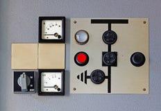 Viejo metro en el panel de control  Imágenes de archivo libres de regalías