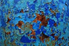 Viejo modelo agrietado de la pintura en fondo oxidado Pintura de la peladura Fotografía de archivo