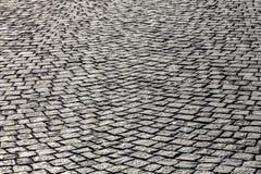 Viejo modelo de la piedra del adoquín Fotografía de archivo libre de regalías