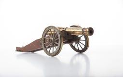 Viejo modelo Isolated del cañón en blanco imágenes de archivo libres de regalías