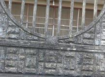 Viejo modelo modelo de la cerca de la pared Foto de archivo libre de regalías