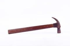 viejo moho curvado tradicional usado del martillo de garra en la herramienta blanca del fondo aislada Imagen de archivo