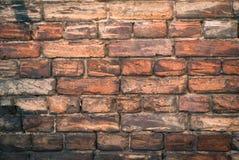 Viejo monocromo de la pared de ladrillo Foto de archivo libre de regalías