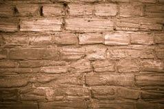 Viejo monocromo de la pared de ladrillo Imagen de archivo